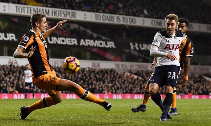 Eriksen lập cú đúp trong chiến thắng 3-0 của Tottenham trước Hull