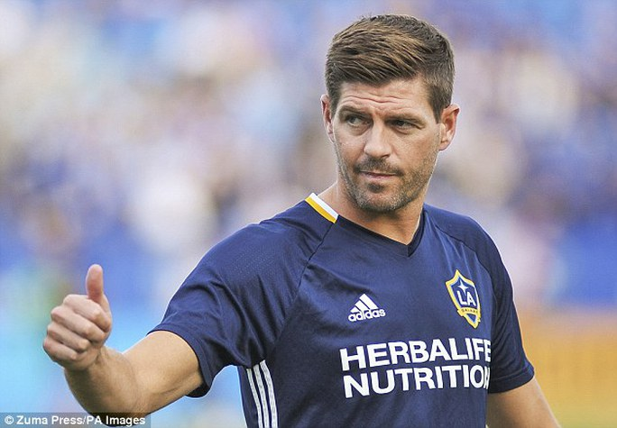 Gerrard trong màu áo LA Galaxy