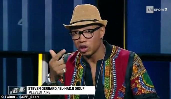 Diouf phát biểu về Gerrard trên truyền hình Pháp