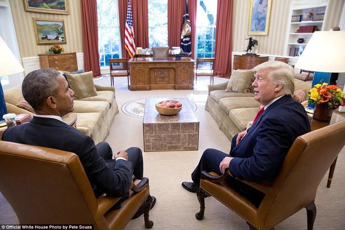 Cuộc gặp đầu tiên giữa ông Obama và Tổng thống đắc cử Donald Trump 2 ngày sau cuộc bầu cử Tổng thống Mỹ 2016.