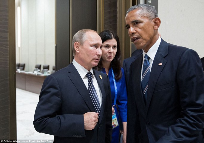 Khoảnh khắc căng thẳng giữa ông Obama và ông Putin tại Hội nghị G20 ở Hàng Châu ngày 5-9-2016