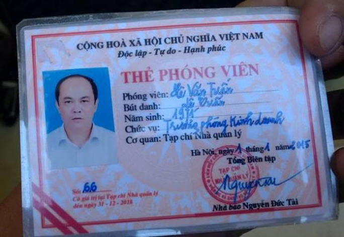Thẻ phóng viên của ông Lê Văn Tuấn