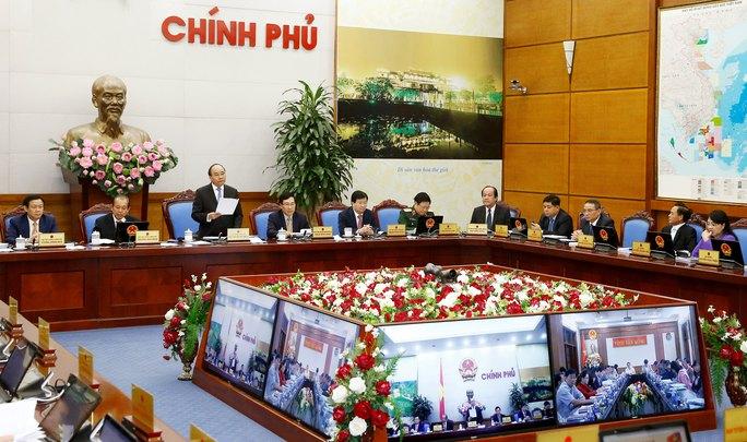 Chính phủ tổ chức hội nghị trực tuyến với các địa phương vào ngày 28-12 Ảnh: TTXVN