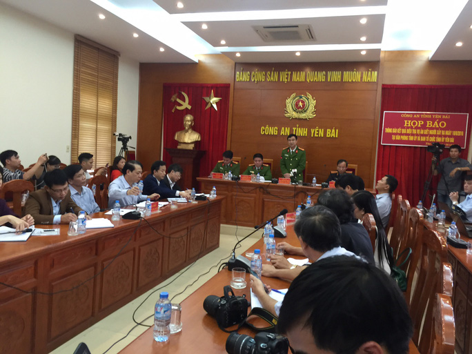 Công an tỉnh Yên Bái tổ chức họp báo thông tin về vụ sát hại nguyên Bí thư Tỉnh ủy và Chủ tịch HĐND tỉnh Yên Bái vào chiều 26-12