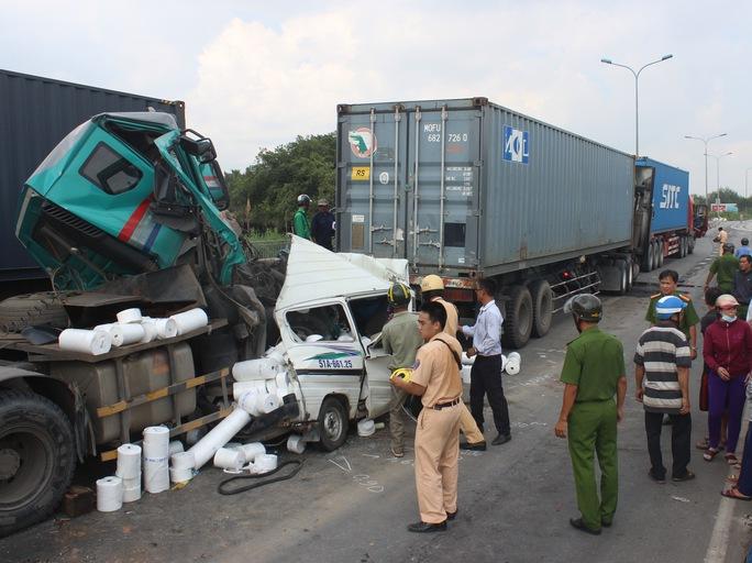 Một vụ tai nạn giao thông ở TP HCM Ảnh: Gia Minh