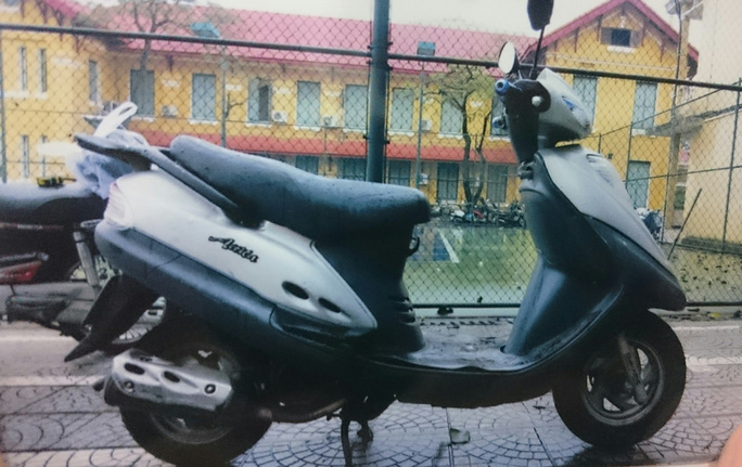 Chiếc xe gắn máy được tìm thấy