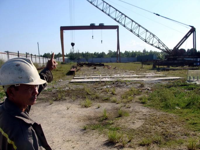 Siêu dự án nhà máy thép Guang Lian Dung Quất sau 10 năm vẫn là bãi đất trống Ảnh: TỬ TRỰC