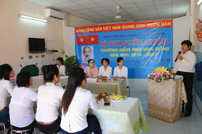 Hội nghị người lao động tại Trường Mầm non Hoa Hồng