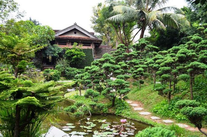 Đồi La hán 108 cây tượng trưng cho 108 vị la hán trong vườn nhà báo Sử Trường Sơn