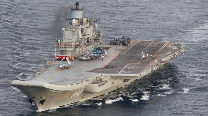 Tàu sân bay Đô đốc Kuznetsov của Nga. Ảnh: Quân đội Na Uy