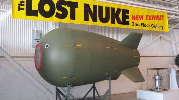 Mô phỏng quả bom bị thất lạc những năm 1950. Ảnh: ROYAL AVIATION MUSEUM OF WESTERN CANADA