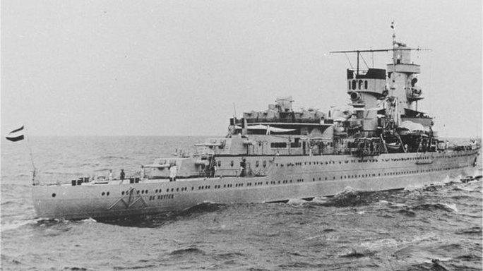 Tàu HNLMS De Ruyter của Hà Lan, soái hạm của Chuẩn Đô đốc Karel Doorman. Ảnh: Viện Lịch sử Quân đội Hà Lan
