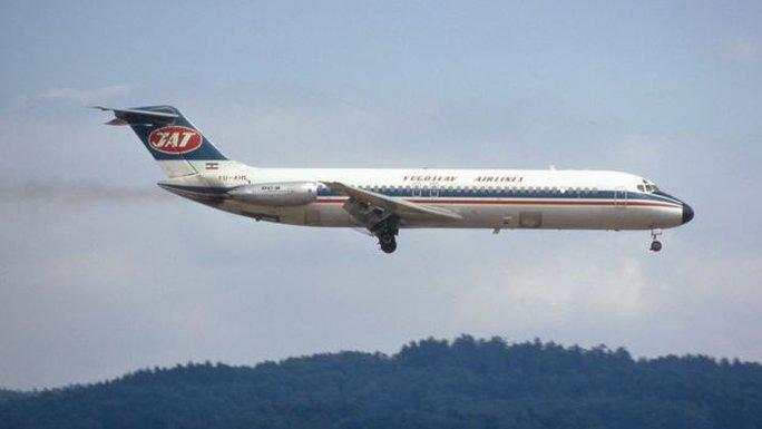Máy bay DC-9 của Hãng hàng không Yugoslav. Ảnh: CC CLIPPERARCTIC