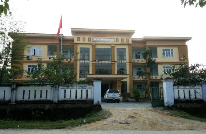 Trung tâm Y tế dự phòng huyện Tuyên Hóa, nơi xảy ra nhiều vụ việc lùm xùm trong thời gian gần đây
