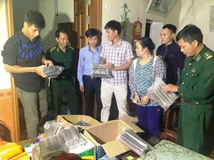 Số thuốc nổ bị lực lượng Công an và Biên phòng ở Thanh Hóa bắt giữ