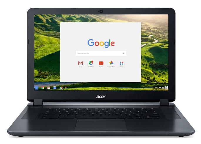 Mặc dù thuộc phân khúc phổ thông nhưng Acer Chromebook 15 có thiết kế khá hoàn chỉnh, nặng chỉ 1,9kg.