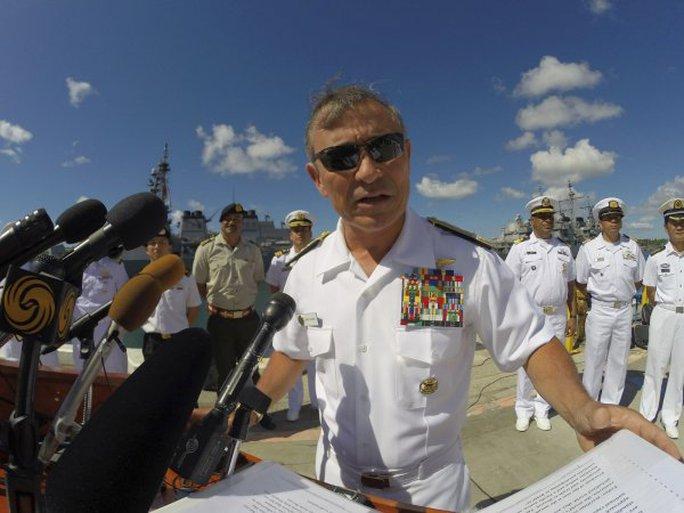 Đô đốc Harry Harris, Tư lệnh Hạm đội Thái Bình Dương của Mỹ. Ảnh: Reuters