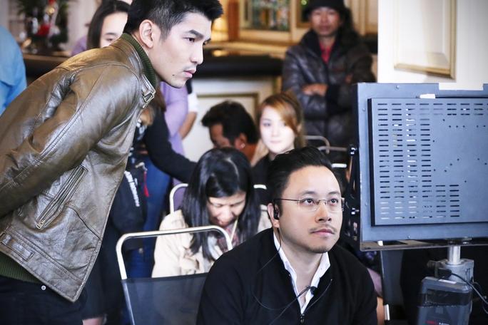Victor Vũ trên trường quay