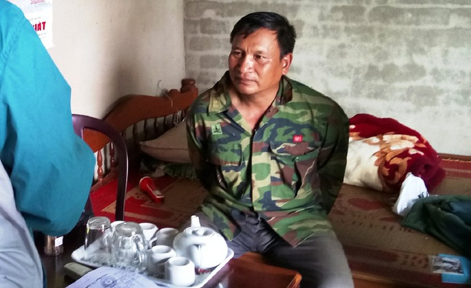 Đối tượng Nguyễn Văn Chính lúc bị bắt. Ảnh B.N