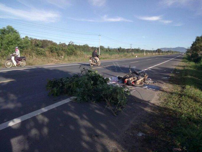Sau khi tông chết 2 người, tài xế xe tải bỏ trốn khỏi hiện trường