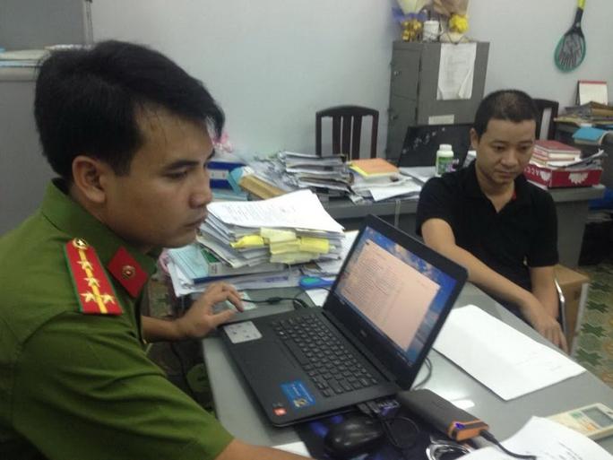 Nguyễn Xuân Trường tại cơ quan công an