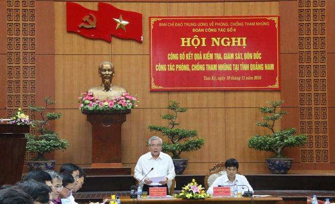 Tổng Thanh tra Chính phủ Phan Văn Sáu, Trưởng đoàn Công tác số 6 phát biểu tại hội nghị