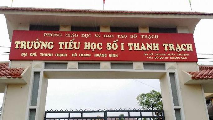 Trường Tiểu học số 1 Thanh Trạch - nơi cô H. công tác. Ảnh: V.L