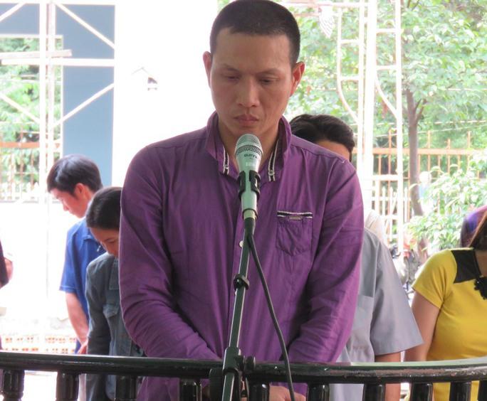Bị cáo Nguyễn Thành Trung tại phiên tòa sơ thẩm
