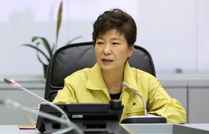 Bà Park được cho là đã làm tóc trong 90 phút trước khi đến trung tâm xử lý thảm họa. Ảnh: Korea Times