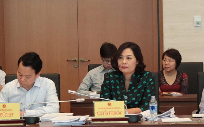 Phó thống đốc Nguyễn Thị Hồng tại phiên họp sáng 7-10 của Uỷ ban Kinh tế Quốc hội.