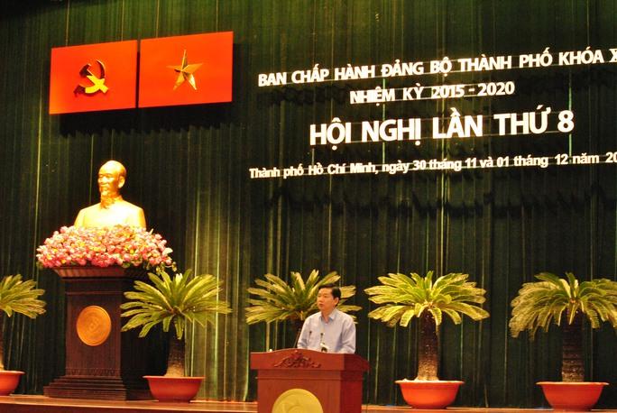 Bí thư Thành ủy TP HCM phát biểu bế mạc Hội nghị lần thứ 8 Ban Chấp hành Đảng bộ TP HCM khóa X