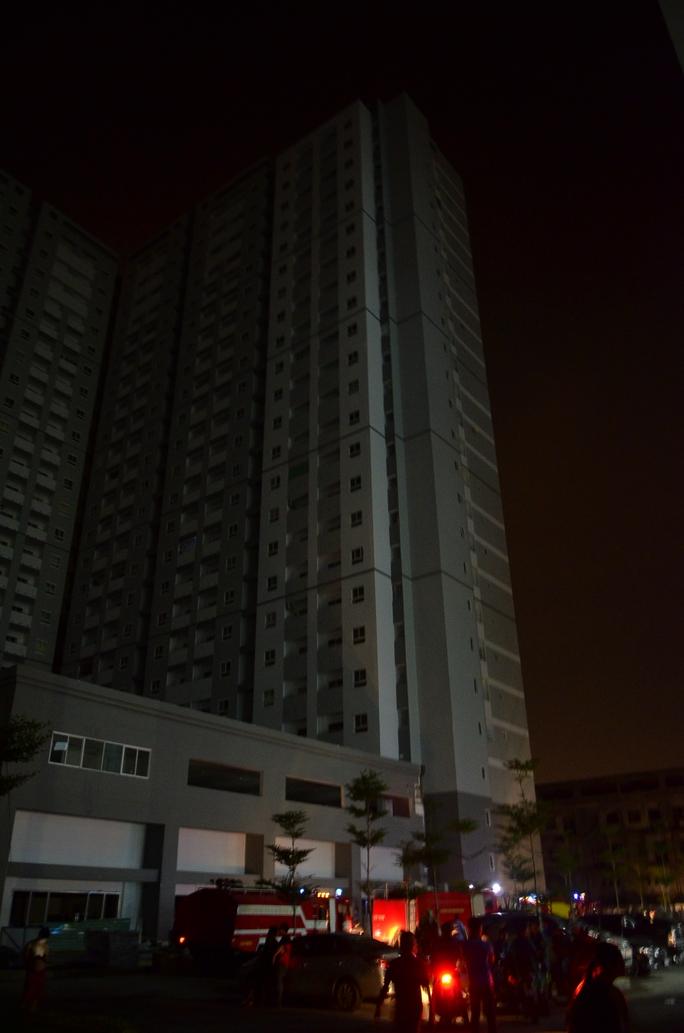 Chung cư HQC Plaza (huyện Bình Chánh) bị cháy hồi tháng 7-2016.