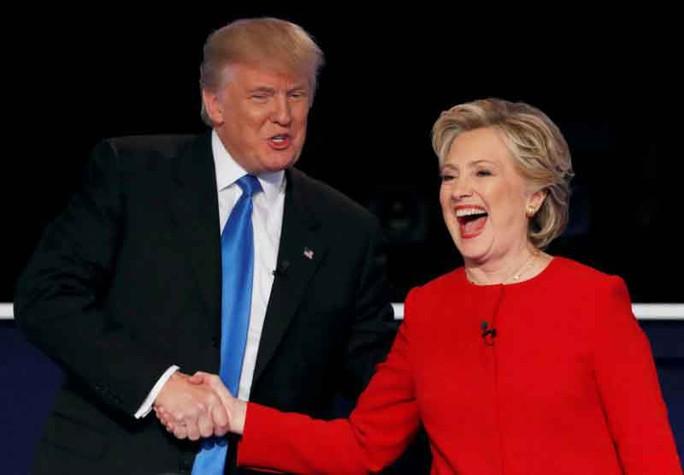 Ông Donald Trump tỏ ra lép vế trong cuộc tranh luận đầu tiên với bà Hillary ClintonẢnh: Reuters
