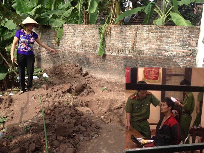 Nơi công an tìm thấy thi thể 2 bé gái (ảnh lớn) và nghi can Đào Văn Hùng