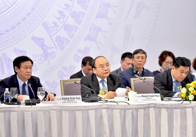 Thủ tướng Nguyễn Xuân Phúc khẳng định quyết tâm xây dựng Chính phủ liêm chính, kiến tạo phát triển Ảnh: QUANG HIẾU