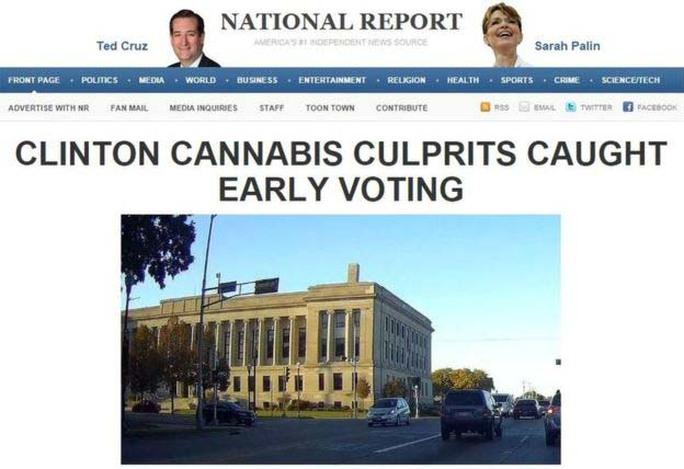 Một bản tin về bầu cử Mỹ trên trang National ReportẢnh: BBC