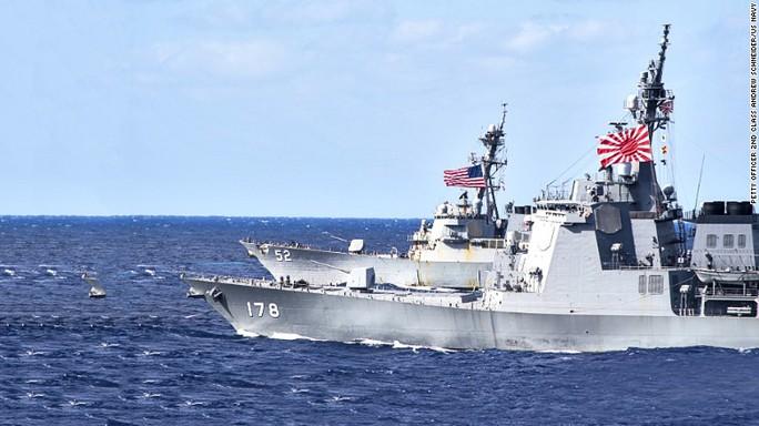 Tàu khu trục JS Ashigara của Nhật Bản Ảnh: HẢI QUÂN MỸ