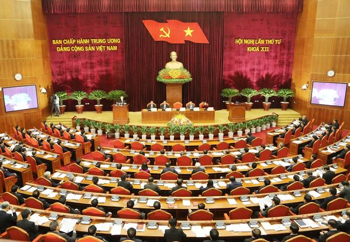 Toàn cảnh khai mạc Hội nghị lần thứ tư Ban Chấp hành Trung ương Đảng Cộng sản Việt Nam khóa XII.Ảnh: TTXVN