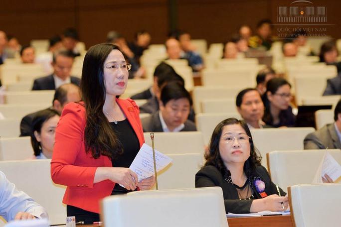 ĐBQH Nguyễn Thị Thủy (Bắc Kạn) phát biểu ý kiến về dự án Luật Trách nhiệm bồi thường của nhà nước (sửa đổi) Ảnh: Văn Bình