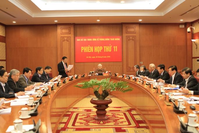 Phiên họp của Ban Chỉ đạo Trung ương về phòng chống tham nhũng ngày 28-12 Ảnh: BẮC HIẾU