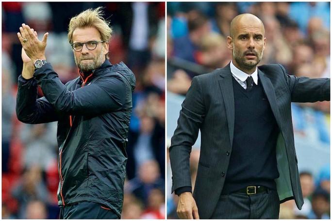 HLV Klopp (trái) rất tự tin tái đấu Guardiola ở AnhẢnh: TIA