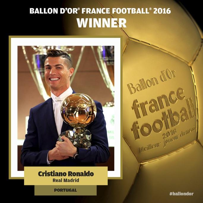 Ronaldo chụp ảnh chung với Quả bóng vàng cách đây 1 tuần trước khi sang Nhật dự World Cup các CLB.Ảnh: AS