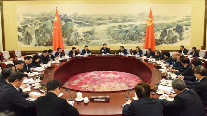 Khung cảnh Hội nghị Bộ Chính trị Trung Quốc diễn ra vào đầu tuần nàyẢnh: Tân Hoa Xã