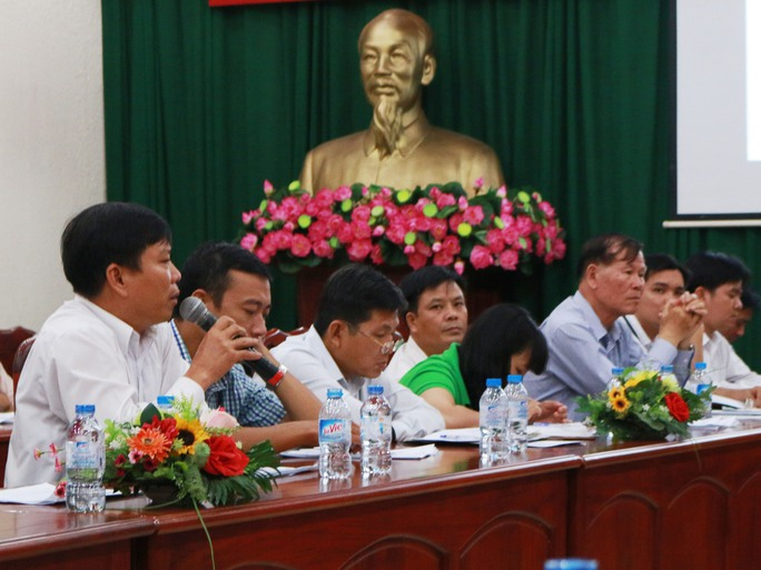 Ông Nguyễn Quang Thép, Chủ tịch Công đoàn Công ty Cơ khí Đại Lộc, chia sẻ kinh nghiệm của đơn vị mình