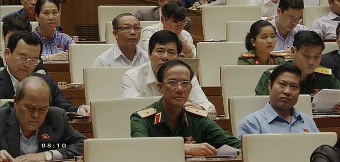Các đại biểu tại hội trường sáng 15-1 - Ảnh chụp qua màn hình