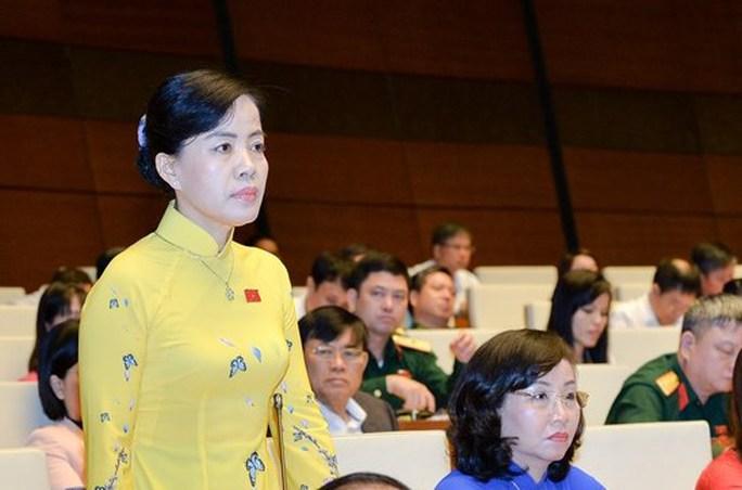 ĐB Nguyễn Thị Kim Thúy chất vấn sáng 15-11 - Ảnh: Quochoi.vn