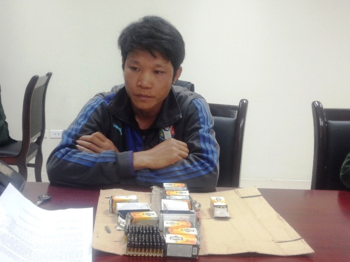 Đối tượng Đinh Xuân Hiên đang bị tạm giữ tại cơ quan điều tra