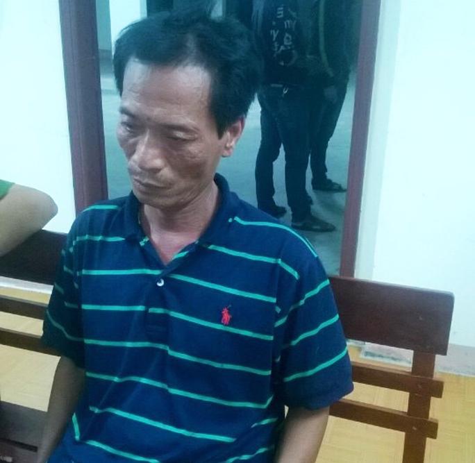 Sau khi sát hại em trai, Thắng bỏ trốn ra Đà Nẵng thì bị bắt Ảnh: PN