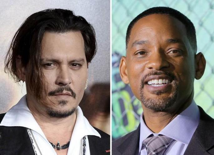 Cướp biển Johnny Depp (trái) kém sinh lợi nhất Hollywood, kết bên là Will Smith
