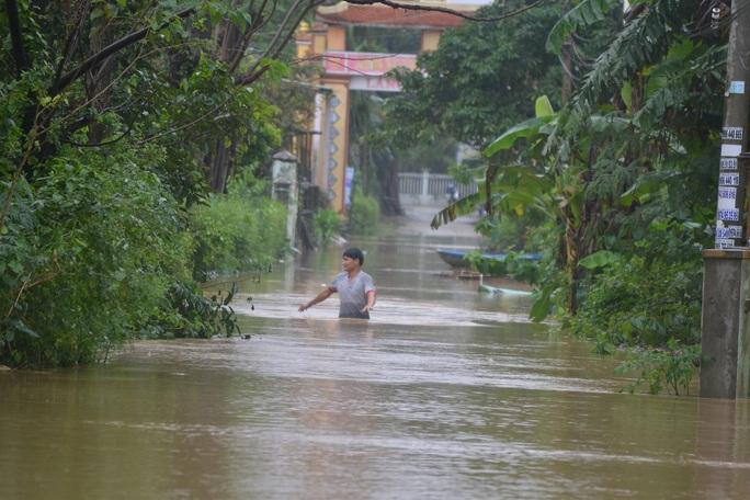 Nhiều nơi ở xã Đại Cường, huyện Đại Lộc, tỉnh Quảng Nam bị ngập nặng